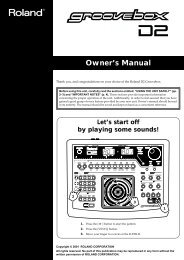 Owner's Manual (D2_OM.pdf) - Roland