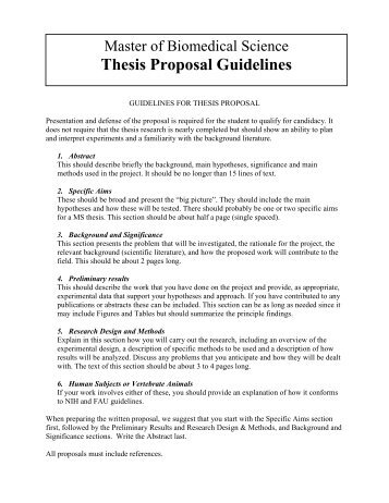arts thesis proposal A proposal submitted in partial fulfillment of the requirements for the degree of master's arts thesis/degree project proposal thesis proposal template.