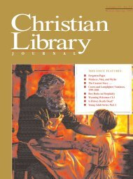 Is History Really Dead - Christian Library Journal