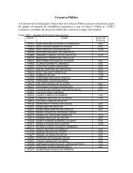 A Comissão de Coordenação e Supervisão do Concurso ... - Fundep