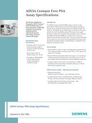 ADVIA Centaur FPSA Assay Specifications 54.3kB - Siemens ...