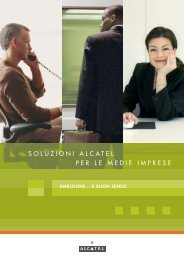 Soluzioni ALCATEL per le medie imprese - SITEL srl