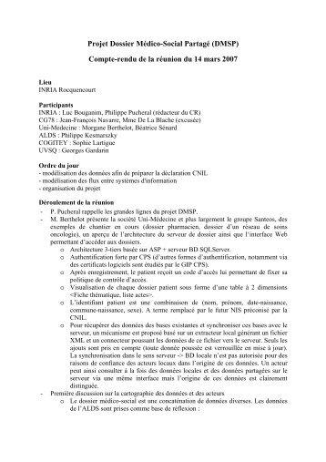 Projet RNTL PlugDB - smis inria