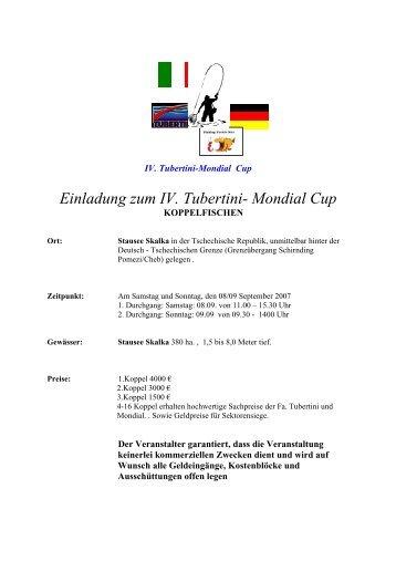 Einladung zum IV. Tubertini- Mondial Cup - Mosella-Team