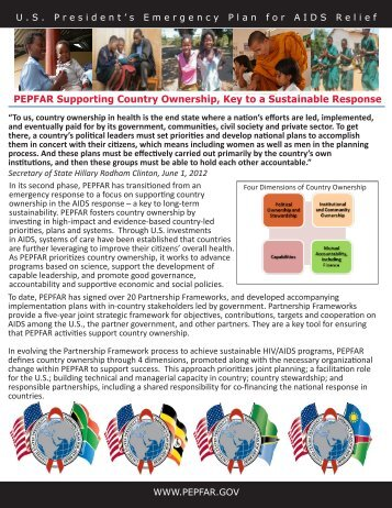 PEPFAR Supporting Country Ownership, Key to a Sustainable ...