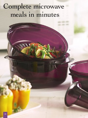 Complete microwave meals in minutes