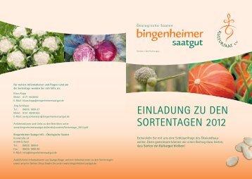 Einladung zu dEn SortEntagEn 2012 - Bingenheimer Saatgut AG