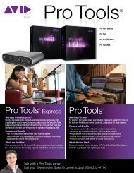 Pro Tools® Pro Tools® Express - medialink - Sweetwater.com