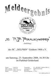 """""""35. RP−Pokalschwimmen"""" - SC Delphin Geldern"""