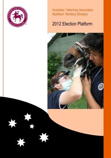 2012 Election Platform - Australian Veterinary Association