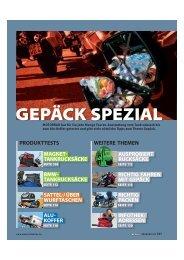 GEPÄCK SPEZIAL - MOTORRAD online