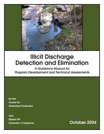 Illicit Discharge Detection and Elimination: A Guidance Manual