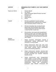 AKTIVITI: - Jabatan Taman Laut Malaysia