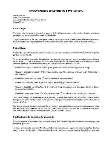 Uma Introdução às Normas da Série ISO 9000 - AllChemy