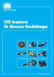 EWE-Armaturen für Abwasser-Druckleitungen