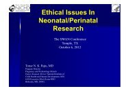 Ethical Issues In Neonatal/Perinatal Research - Healthcare ...