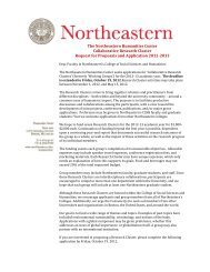 The Northeastern Humanities Center Collaborative Research ...