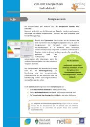 VOR-ORT Energiecheck Infoblatt - Netzwerk Energieberatung ...