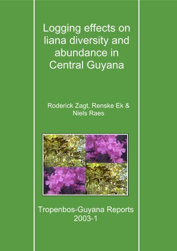 Logging effects on liana diversity and abundance in Central Guyana