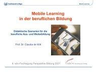 Mobile Learning in der beruflichen Bildung - wbv-Fachtagung