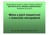 Města a jejich bezpečnost v historické ... - Regionální rozvoj