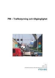 Trafikstyrning och tillgänglighet - Movea Trafikkonsult AB