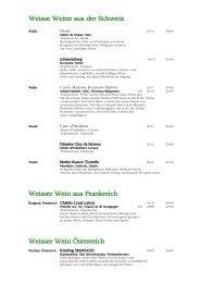 Weisse Weine aus der Schweiz Weisser Wein aus Frankreich ...