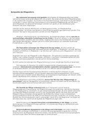 Kernpunkte der Pflegereform - Versicherungsmagazin