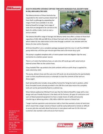 Press Release - Silvan Australia