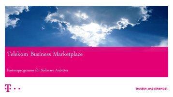 Telekom Business Marketplace Telekom Business Marketplace