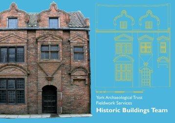 building recording leaflet - York Archaeological Trust