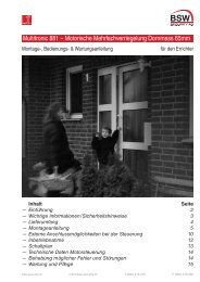 Montage-, Bedienungs - Moser Sicherheit AG