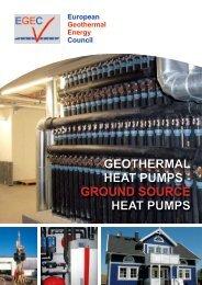 GEOTHERMAL HEAT PUMPS - GROUnd SOURCE HEAT ... - EGEC