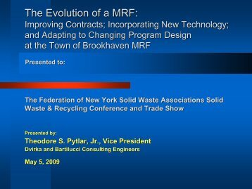 The Evolution of a MRF - Home for the New York Federation of Solid ...