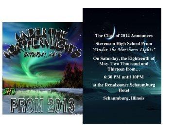 Prom Booklet - Adlai E. Stevenson High School