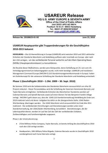 usareur 23.6.2010 - Stadtpolitik Heidelberg