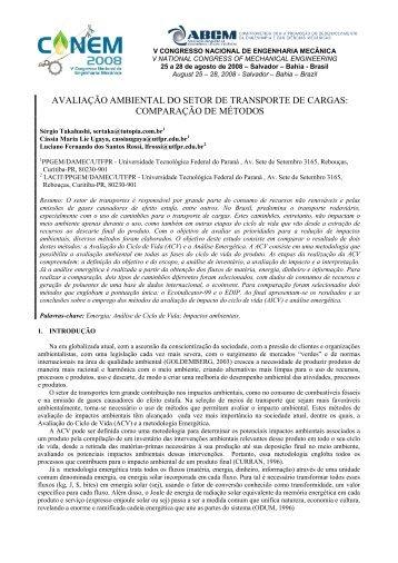 AVALIAÇÃO AMBIENTAL DO SETOR DE ... - PPGEM - UTFPR