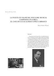 la puesta en valor del folclore musical campesino en lorca. el caso ...