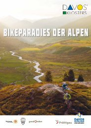 Broschüre Bikeparadies in den Alpen - Schweizer Jugendherbergen