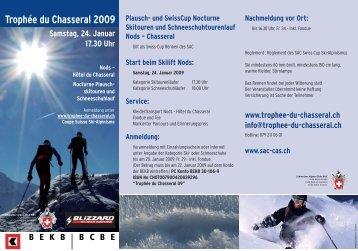 Trophée du Chasseral 2009 - CAS La Neuveville