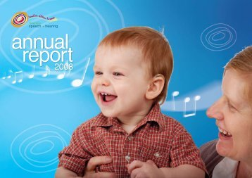 2008 Annual Report - Telethon Speech and Hearing
