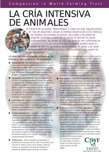 LA CRÍA INTENSIVA DE ANIMALES - Compassion in World Farming