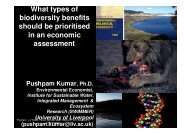 What types of biodiversity benefits should be ... - Ecologic Events