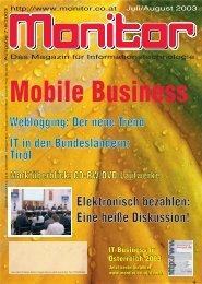 Die komplette MONITOR-Ausgabe 7-8/2003 können