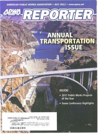 APWA Award Article July 2011.pdf - Walk Bike Marin!