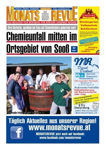 (Grüner Markt) Tel.: 02252/21149 und jetzt neu in ... - MonatsRevue.at