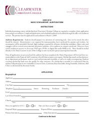 2009-2010 MUSIC SCHOLARSHIP / AUDITION FORM ...