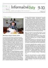 Informačnélisty 9-10 - Fakulta architektúry STU