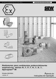 Redutores para ambientes potencialmente ... - SEW Eurodrive