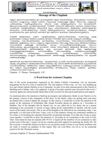 ICC Parish Bulletin Vol.4.4 November - December 2009 released on ...